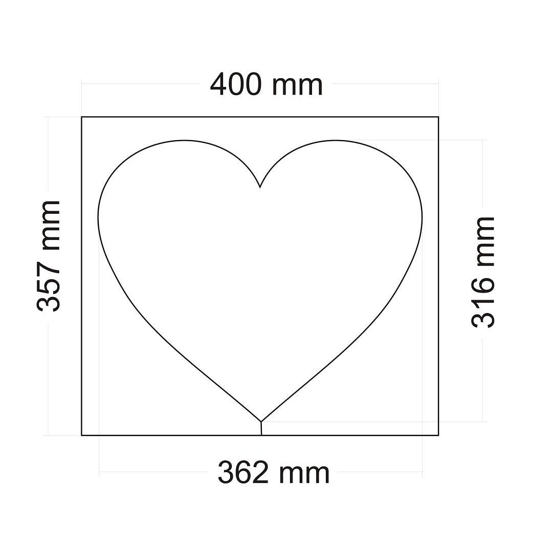 Polystyrenové srdce - korpus 32 x 36 cm (1 ks) - Aranžérské potřeby ... 4640e640f8b