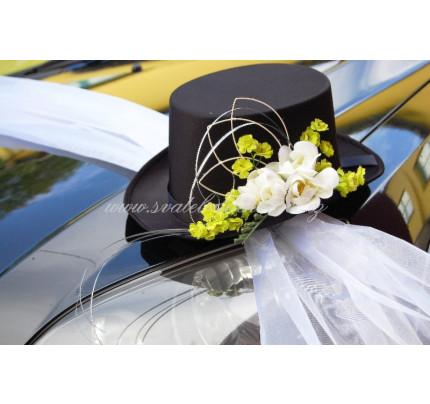 4915a3df3bb Cylindr na auto - svatební cylindr